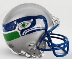 Seattle Seahawks Mini Helmet 1976 - 2001 Unsigned