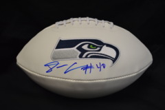 Derrick Coleman Seahawks Autographed Logo Football (With SB 48)