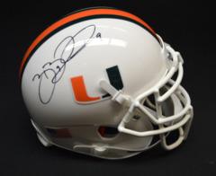 Brian Blades Miami Hurricanes Signed Schutt Mini Helmet