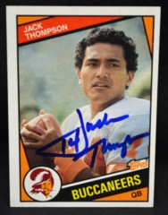 Jack Thompson Autographed 1984 Topps