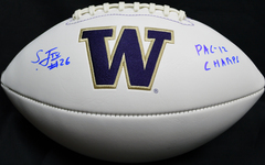 Sidney Jones Autographed UW Huskies White Panel Logo Football