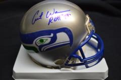 Curt Warner Seahawks Autographed Mini Helmet
