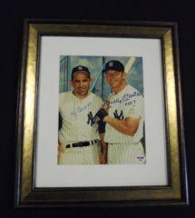 Mickey Mantle & Yogi Berra Autograph 8x10 PSA DNA