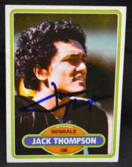 Jack Thompson Autographed 1980 Rookie Card