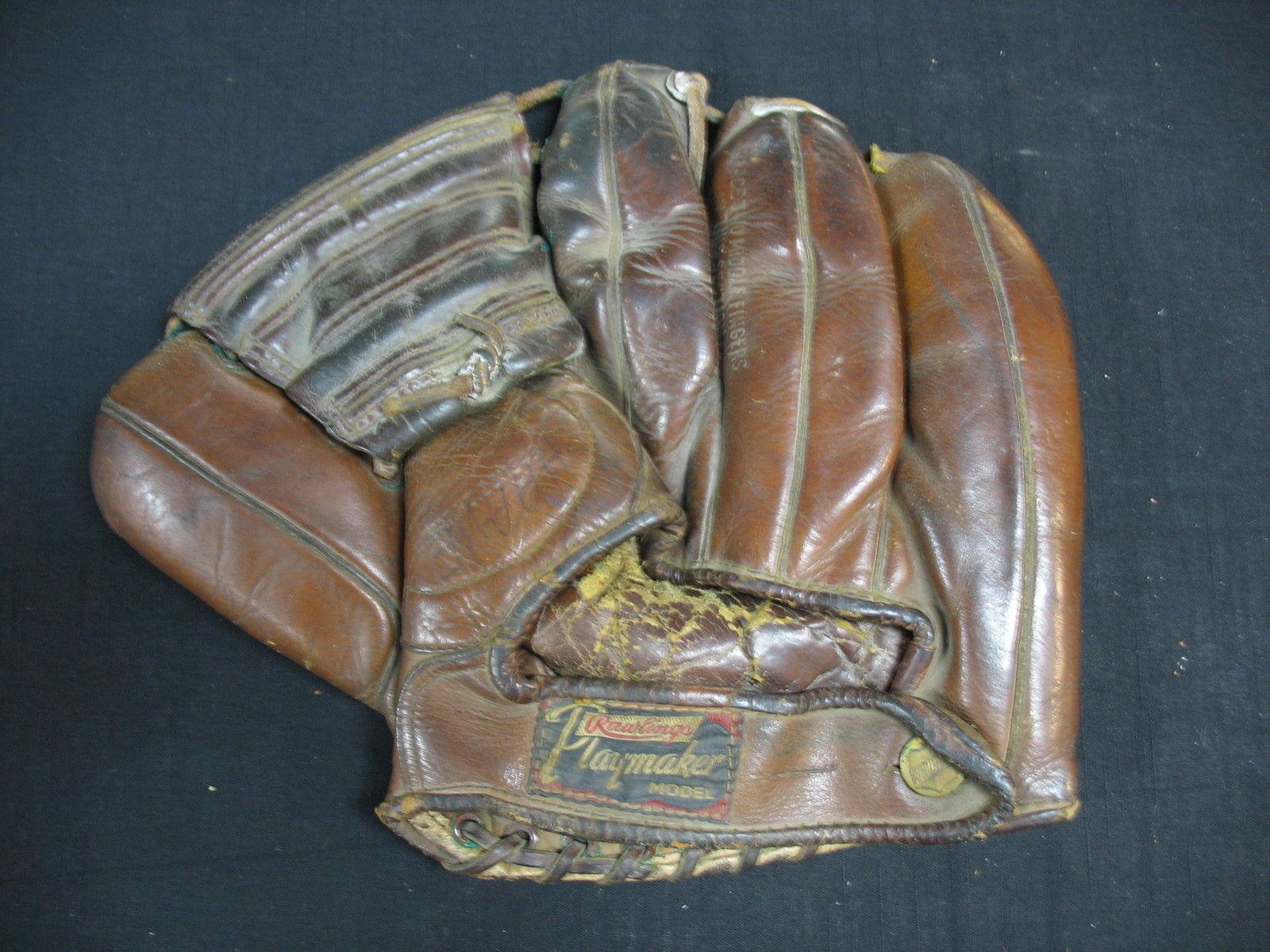 Vintage Rawlings Playmaker 4 Finer Fielders Glove