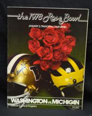 Warren Moon Signed 1978 Rose Bowl Program