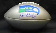 Edwin Bailey Seahawks Autographed Silver Football JSA