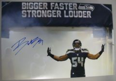 Bobby Wagner Seahawks Autographed 12x18 Photo A
