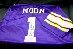 Warren Moon Signed Vikings Jersey  9x Pro Bowl Inscriptions