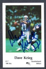 1986 Seahawks Police #10 Dave Krieg Autograph