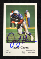 Jacob Green Signed 1986 Seahawks Police Card