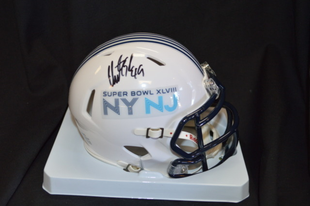 John Ryan Seahawks Autographed White Super Bowl Mini Helmet