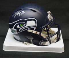 Christine Michael Seahawks Autographed Mini Helmet w/JSA Silver Ink
