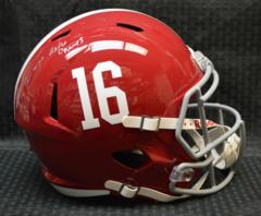 Jarran Reed Alabama Full Size Replica Speed Helmet w/insc 2016 Champs JSA