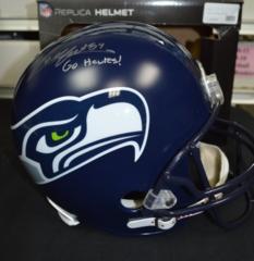 Cooper Helfet Seahawks Signed Full Size Replica Helmet w/ Inscription