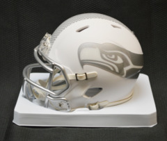 Seattle Seahawks Ltd Ed ICE Mini Helmet Unsigned
