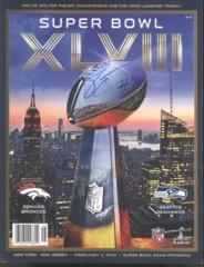 Derrick Coleman Seahawks Autographed Super Bowl Program