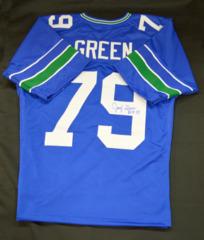 Jacob Green Signed Custom Retro Jersey w/ ROH Inscription
