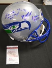 Seahawks Ring of Honor Autographed x6 Replica Full Sized Helmet JSA