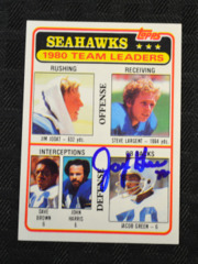 Jacob Green Signed 1980 Seahawks Topps RC Card