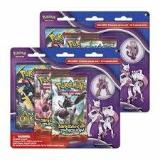 XY BREAKThrough Collector's Pin 3-Pack Blister - Mewtwo