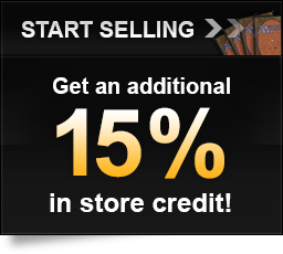 Start Selling, Get an additional 15 percent in store credit!