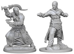 Pathfinder Deep Cuts Unpainted Miniatures: Human Male Monk