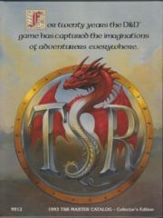 1993 TSR Master Catalog-Collector's Edition