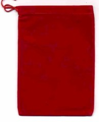 Red Velour Dice Bag Large