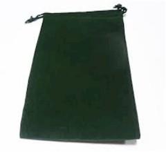 Green Velour Dice Bag Large