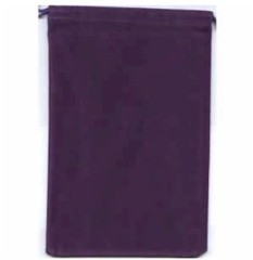 Purple Velour Dice Bag Large