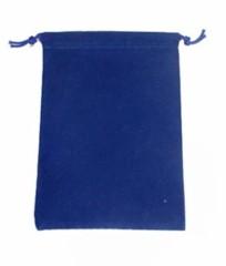 Blue Velour Dice Bag Large