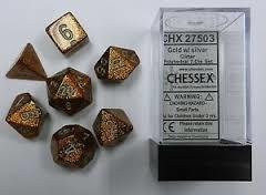 Chessex CHX27503 Glitter Gold w/silver