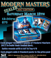 Modern Masters 2017 Sealed Tournament - Sunday, March 18, 2017 at 1:00pm