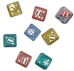 Double Dice D6 8pc