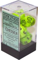 Vortex Polyhedral 7-Die SetBright Green/Black (27430)