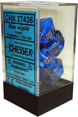 Vortex Polyhedral 7-Die Set Blue/Gold (27436)