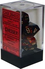 Gemini Polyhedral 7-Die Set Black-Red (26433)