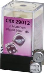 2 Aluminum Plated  16mm D6 (CHK29012)