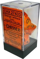 Vortex Polyhedral 7-Die Set Orange/Black (27433)