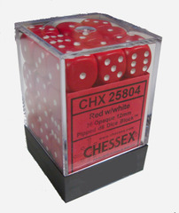 Chessex 12mm D6 Opaque Red White (CHX25804)