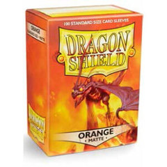 Dragon Shield: Standard Sleeves - Matte Orange (100 ct)