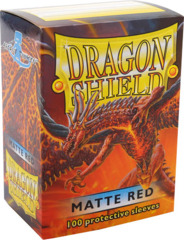 Dragon Shield: Standard Sleeves - Matte Red (100ct)