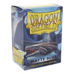 Dragon Shield: Standard Sleeves - Matte Blue (100ct)