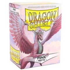 Dragon Shield: Standard Sleeves - Matte Pink (100 ct)