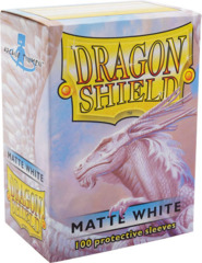 Dragon Shield: Standard Sleeves - Matte White (100ct)