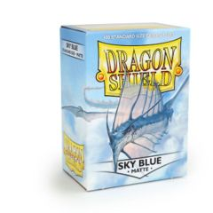Dragon Shield: Standard Sleeves - Matte Sky Blue (100ct)