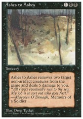 Ashes to Ashes - 4th Edition - Black Border