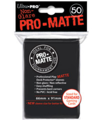 Ultra Pro: Standard Sleeves - Matte Black (50ct)