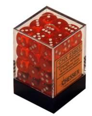36 Orange w/White 12mm D6 Dice Brick - CHX23803
